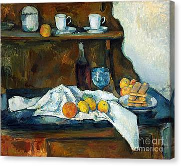 The Buffet Canvas Print by Cezanne