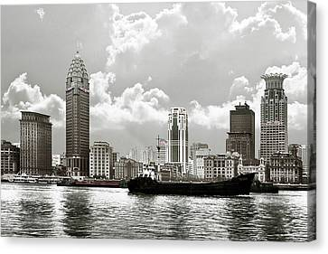 The Bund - Old Shanghai China - A Museum Of International Architecture Canvas Print by Christine Till