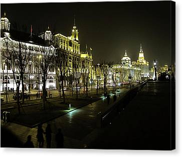 The Bund - Shanghai's Famous Waterfront Canvas Print by Christine Till