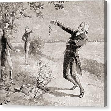 The Burr Hamilton Duel Canvas Print by Henry Alexander Ogden
