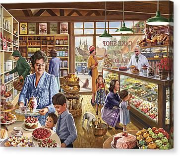 The Cakeshop Canvas Print by Steve Crisp