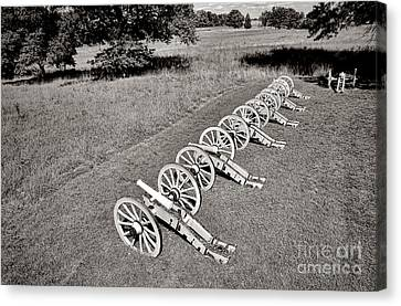 The Cannons Of Valley Forge Canvas Print by Olivier Le Queinec