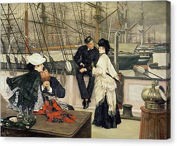 The Captain And The Mate Canvas Print by Tissot