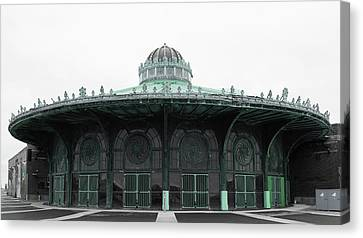The Carousel House Asbury Park Nj Green Canvas Print by Terry DeLuco
