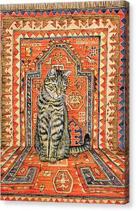 The Carpet Cat Canvas Print by Ditz