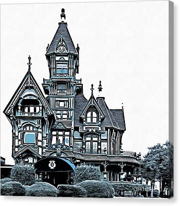 The Carson Mansion Canvas Print by Edward Fielding