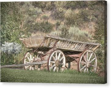 The Cart Before The Horse Canvas Print by Donna Kennedy