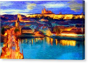 The Castle And The River Canvas Print by Caito Junqueira
