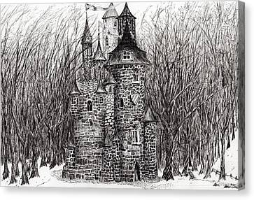 The Castle In The Forest Of Findhorn Canvas Print by Vincent Alexander Booth