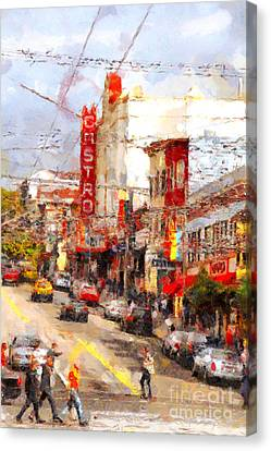 The Castro In San Francisco . 7d7572 Canvas Print by Wingsdomain Art and Photography