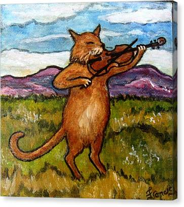 The Cat And The Fiddle Canvas Print by Frances Gillotti