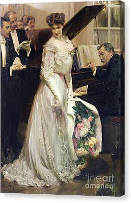 The Celebrated Canvas Print by Joseph Marius Avy