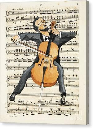 The Cellist Canvas Print by Paul Helm