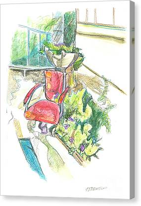 The Chair On The Gruzinskaya Street. 15 August, 2015 Canvas Print by Tatiana Chernyavskaya