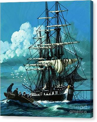 The Challenger Expedition Of The 1870s Canvas Print by Wilf Hardy