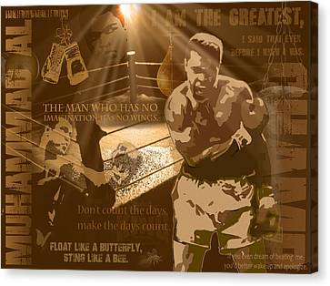 The Champ - Ali Canvas Print by Christian Lopez