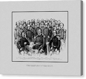 The Champions Of The Union -- Civil War Canvas Print by War Is Hell Store