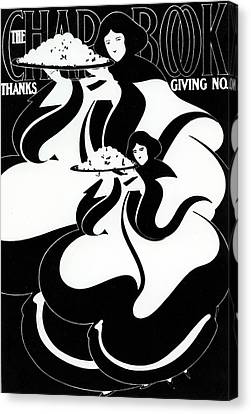 The Chapbook Thanksgiving Front Cover Canvas Print by American School