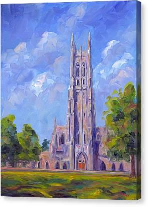 The Chapel At Duke University Canvas Print by Jeff Pittman