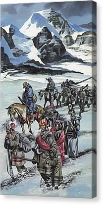 The Cherokee Canvas Print by Ron Embleton