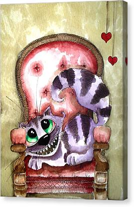 The Cheshire Cat - Lovely Sofa Canvas Print by Lucia Stewart