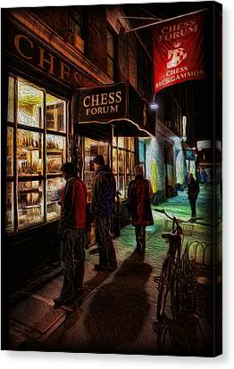 The Chess Forum Canvas Print by Lee Dos Santos