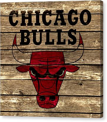 The Chicago Bulls 2a Canvas Print by Brian Reaves