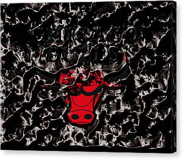 The Chicago Bulls 3e Canvas Print by Brian Reaves