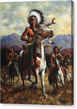 The Chief Canvas Print by Harvie Brown