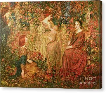 The Child Canvas Print by Thomas Edwin Mostyn