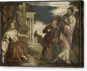The Choice Between Virtue And Passion Canvas Print by Paolo Veronese