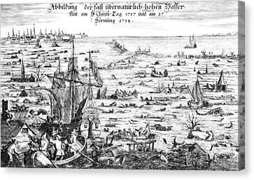 The Christmas Flood Canvas Print by Dutch School