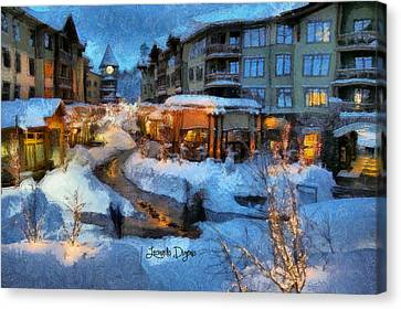 The Christmas Night - Da Canvas Print by Leonardo Digenio