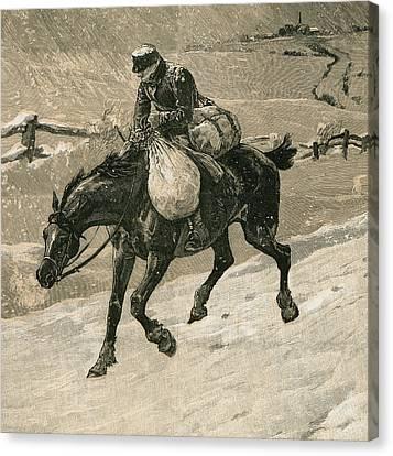 The Christmas Postman Canvas Print by John Charles Dollman