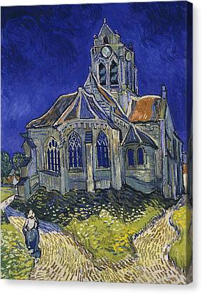 The Church In Auvers Sur Oise View From The Chevet Canvas Print by Vincent van Gogh