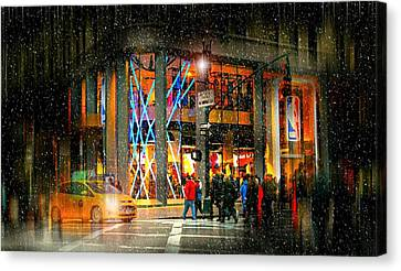 The City Beat Canvas Print by Diana Angstadt