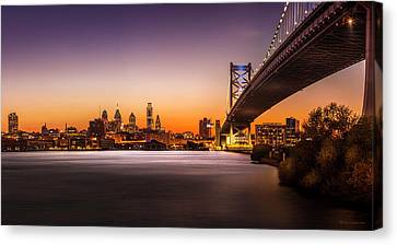 The City Of Philadelphia Canvas Print by Marvin Spates