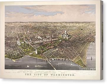 The City Of Washington Canvas Print by Charles Richard Parsons