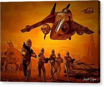 The Clone Wars Canvas Print by Leonardo Digenio