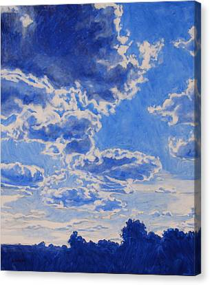 The Cloud Procession Canvas Print by Andrew Danielsen