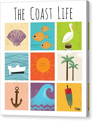 The Coast Life Canvas Print by Kevin Putman