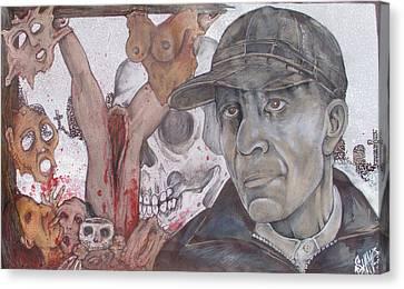 The Cold World Of Ed Gein Canvas Print by Sam Hane