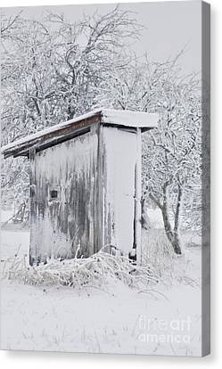 The Coldest Fifty Yard Dash Canvas Print by Benanne Stiens