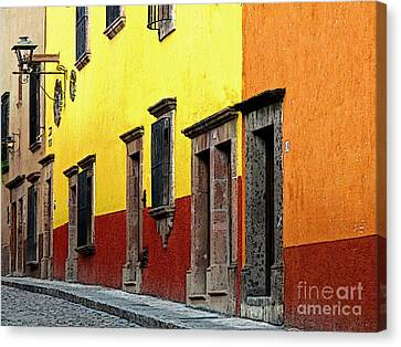 The Colors Of San Miguel Canvas Print by Mexicolors Art Photography