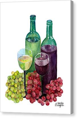 The Colors Of Wine Canvas Print by Arline Wagner