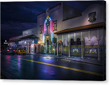 The Columbia Of Ybor Canvas Print by Marvin Spates