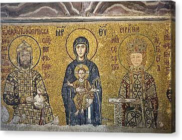 The Comnenus Mosaics In Hagia Sophia Canvas Print by Ayhan Altun