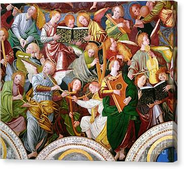The Concert Of Angels Canvas Print by Gaudenzio Ferrari