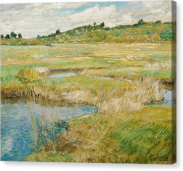 The Concord Meadow Canvas Print by Childe Hassam