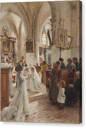 The Confirmation Canvas Print by Leon Augustin Lhermitte